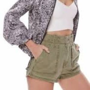 Free people high rise military shorts